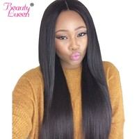 Brazilian Straight Hair Weave Bundles Can Buy Human Hair 3 4 Bundles With Closure Beauty Lueen Non-Remy Hair Extensions