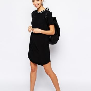 New Look Sports Dress With Rib Trim