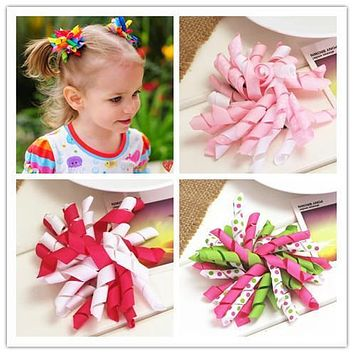 diy flower korker hair ribbon bow baby girls hair clips for girls women of grosgrain bows for hair children hairpins accessories