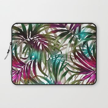 Tropical Leaf Pattern Laptop Sleeve by burcukorkmazyurek