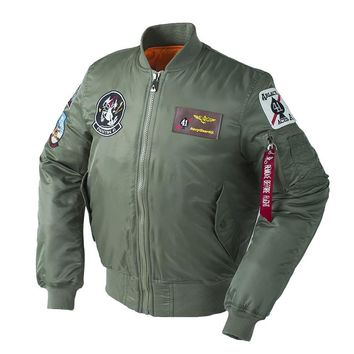 Winter Thick Top Gun US Air force Plus Size Army Military Puffer New view Bomber Flight Padding Pilot Tactical Jacket For Men