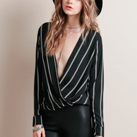 Front And Center Draped Blouse
