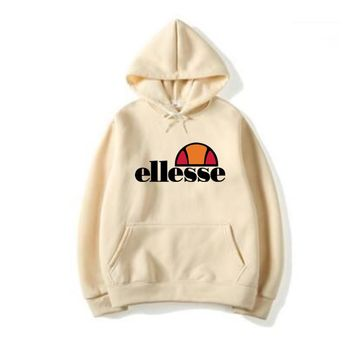 2018 Men's and women Vintage ELLESSE Itallia Logo Hoodie Sweatshirt Men/Women Tracksuit Sweatshirt