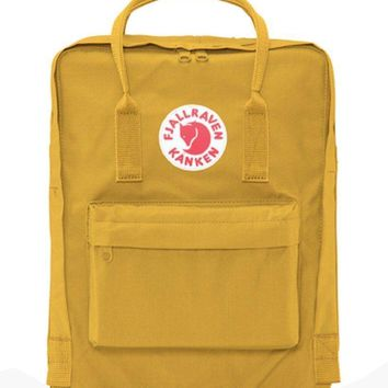 Fjallraven Kanken Durable Backpack Unisex Lovers' School Travel Bag( Ochre)