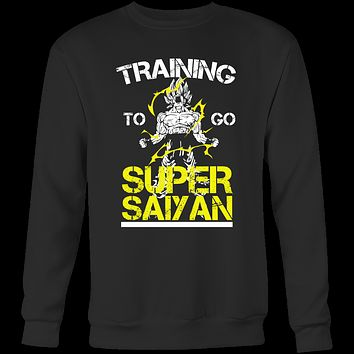 Super Saiyan - Training to go super saiyan - Unisex Sweatshirt T Shirt - TL01157SW
