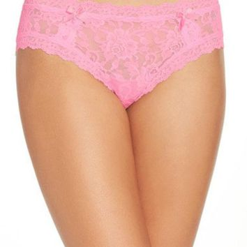 VONESL5 SIGNATURE LACE CHEEKY HIPSTER BRIEFS