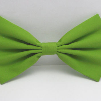 Apple Green hair bow clip green hair clip light green bow retro bow girls bow teens bow women's bow accessories for school summer hair bows