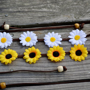 Flower Headbands Package Deal Festival Flower Crowns Daisy Halo Sunflower Crown Floral Headpiece EDC Coachella Counterpoint Tomorrowworld