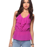 Ruffled Peplum Top | FOREVER21 - 2011409991