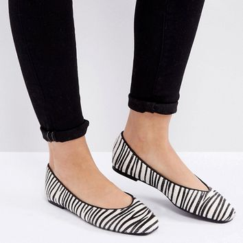 Truffle Collection Flat Ballerina Shoe at asos.com