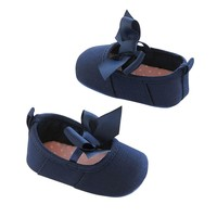 Carter's Mary Jane Canvas Crib Shoes - Baby Girl (Navy)