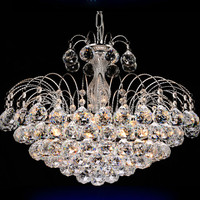 Traditional Crystal Chandeliers Lighting Silver Palace Light Luxury Hotel Lamp For Bedroom Guaranteed 100% Shipping 9042-550