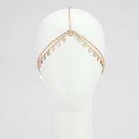Full Tilt Hanging Disc Head Chain Gold One Size For Women 24739062101