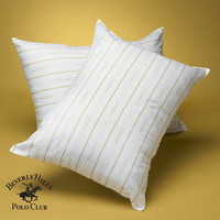 Beverly Hills Polo Club- 100% Gel Fiber Filled Pillow-Classic Stripe-Filled & Finished in USA- 5 Year Warranty