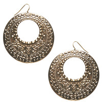 Studded Boho Disc Earring | Wet Seal