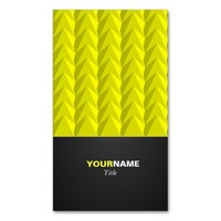 Modern Yellow Double-Sided Standard Business Cards (Pack Of 100)