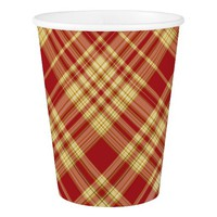 Christmas Plaid 05-PAPER CUPS
