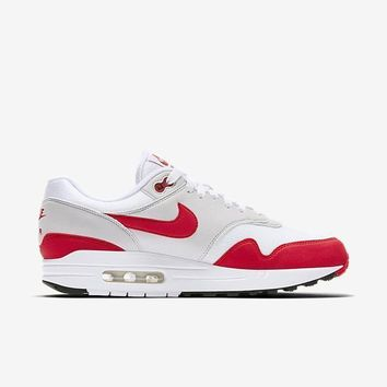 spbest NIKE AIR MAX 1 ANNIVERSARY - WHITE/UNIVERSITY RED-NEUTRAL GREY-BLACK