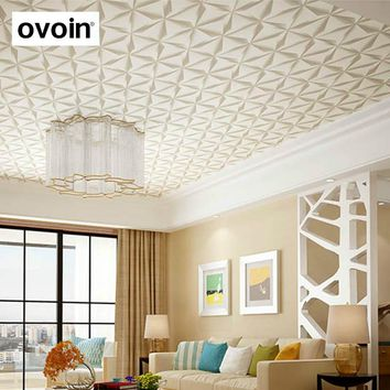 Statement Modern 3D Ceiling Wall Paper Walls Gray Textured Wallpaper 3D For Bedroom Living Room