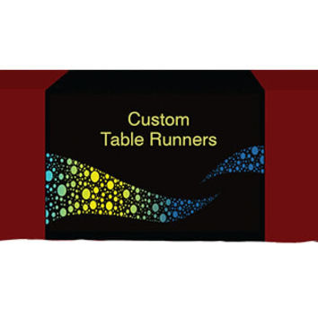 Custom Printed Table runner with 68inch length, full color.
