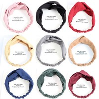 1PC Multicolor Headband Yoga Elastic Turban Twisted Knotted