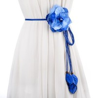 Buy Palmi Flower Accent Braided Belt | YesStyle