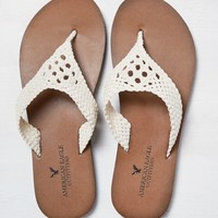 AEO CROCHETED LEATHER FLIP FLOP