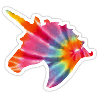 'delta phi epsilon tie-dye unicorn' Sticker by emilyseaman