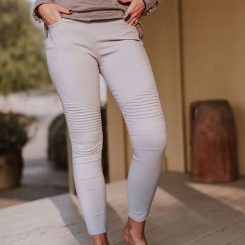 Starstruck Moto Jeggings - Gray