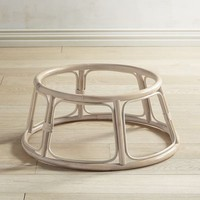Papasan Whitewash Chair Base