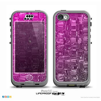 The Hot Pink Mercury Skin for the iPhone 5c nüüd LifeProof Case