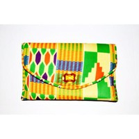 DESIGNER CLUTCH BAG Kente Print Clutch