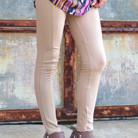 Pipe Up Leggings {Taupe}