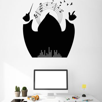 Wall Stickers Vinyl Decal Maestro Music Notes Decor For Living Room Unique Gift (z2059)