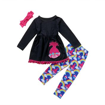 Girl Rainbow Outfit Clothes
