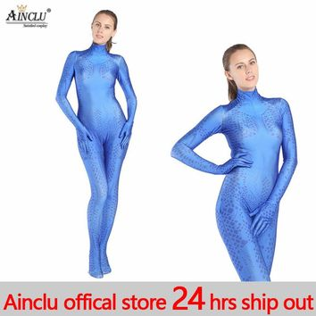 Mystique Cosplay Costume Lycra Spandex halloween X-men Mystique costume 3D Print Superhero zentai catsuit for Women/female/lady