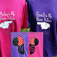 Two Personalized Disney shirts - Best friends, mickey/minnie