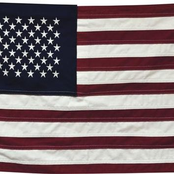 "Natural Cloth American Flag - Large  32"" x 58"" 50 Stars"