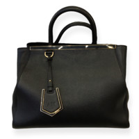 Fendi 2jours Elite Black Tote Bag