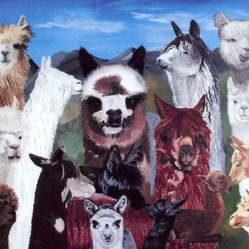Alpaca Collage Print
