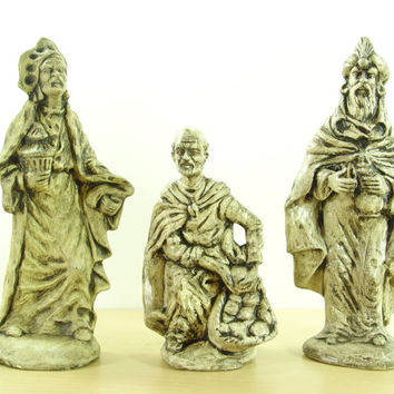 Vintage Gothic Wise Men Nativity Set -  Starlatella Christmas Decor
