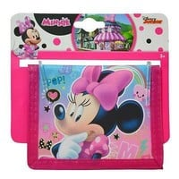 Party Favors Disney Minnie Mouse Bifold Wallet- 6 Pack