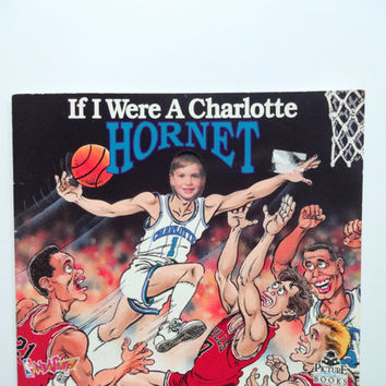 Vintage If I were a Charlotte Hornet Picture Me Book 1993