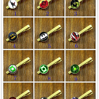Tie Clips- Superhero  Clips,Gold  tie clips, Mens Tie Clip,Fathers Day Tie Clip,Wedding Tie Clips,DIY Tie clip,Best Goft for Friend