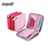 Multi Interbed Leather Short wallet women clutch Small Purse Zipper Lady Girl Mini Coin Bag Card Holder Women Potable Wallet-in Wallets from Luggage & Bags on Aliexpress.com | Alibaba Group