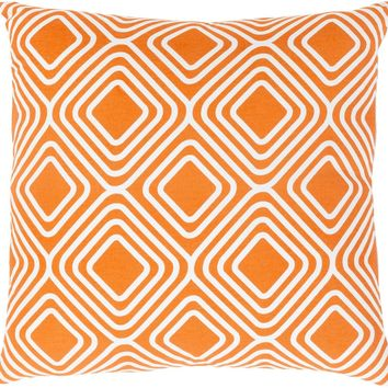 Miranda Throw Pillow Orange, Neutral