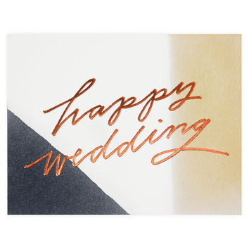 Happy Wedding Hand-Painted Greeting Card
