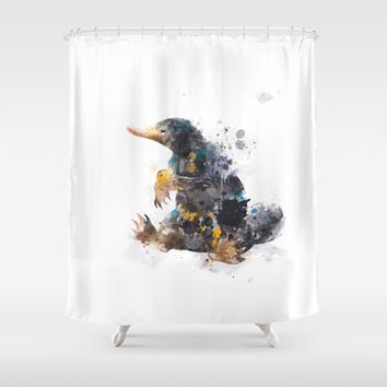 Niffler Shower Curtain by MonnPrint