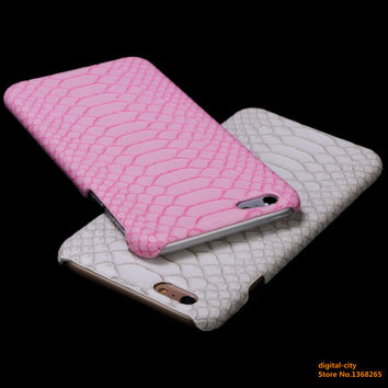 Phone Cases For iPhone 6 6s 6plus 6splus 5 5S SE 7 7Plus case coque Leather Snake Skin PU Hard Shell PC Glitter gold Back Cover