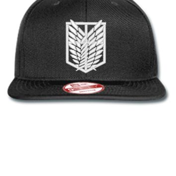 ATTACK ON TITAN white Bucket Hat - New Era Flat Bill Snapback Cap